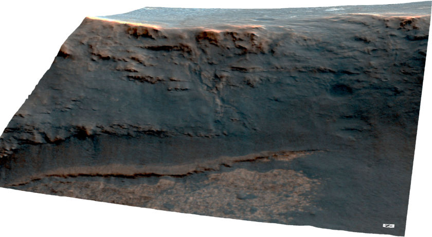 Perseverance Valley terrain oblique view