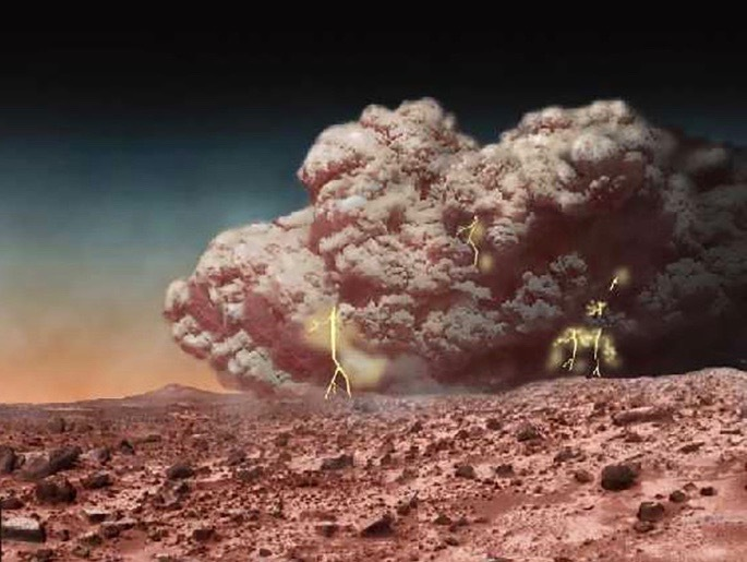 Electrical dust storms on Mars?