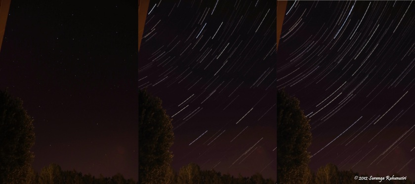 Star Trails - paintings on the canvas of night sky
