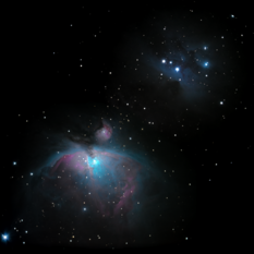 The Great Nebula in Orion with De Mairan's Nebula