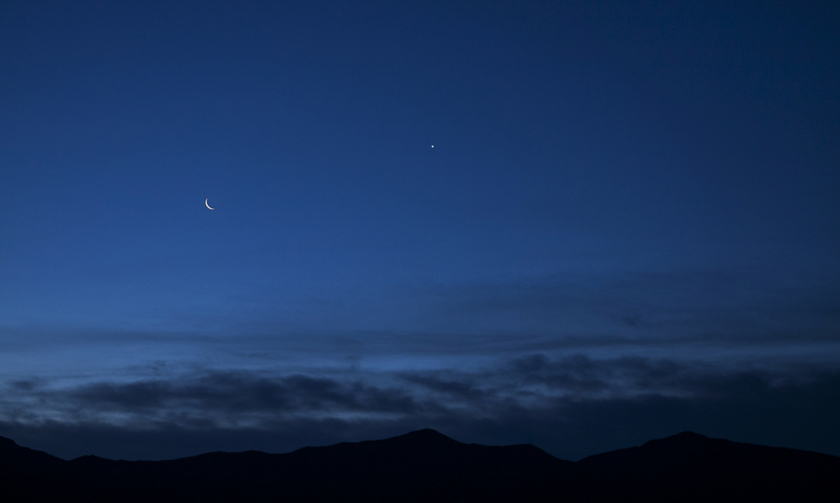 Moon and Venus in Alamogordo, NM