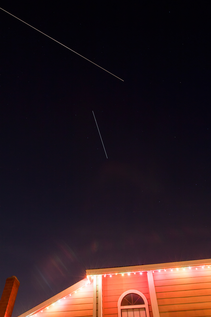 ISS Photobombed by SL-8 R/B