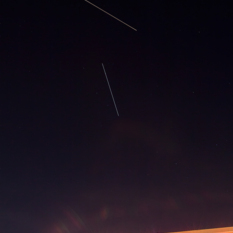 ISS Photobombed by SL-8 R/B