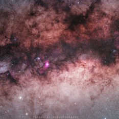 A close up look of Interstellar dust towards the center of our galaxy
