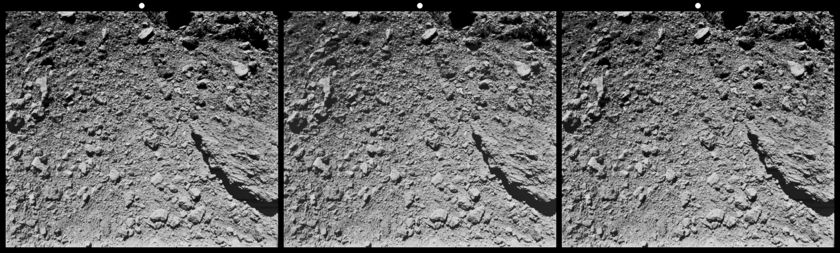 Stereoscopic Image of Asteroid Ryugu