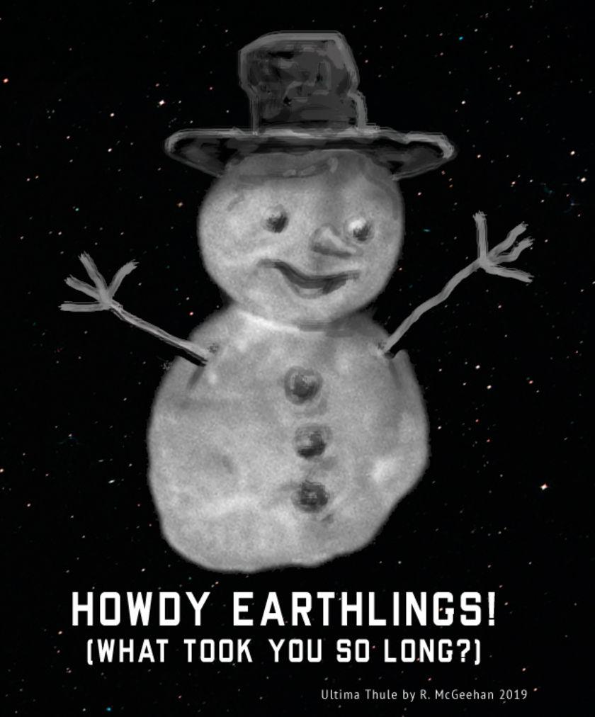 My Ultima Thule snowman art