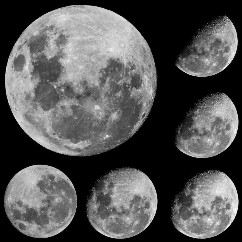 The Moon in six days