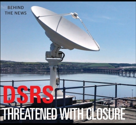 Dundee Satellite Receiving Station (DSRS) Scotland facing the bulldozer after 50 years