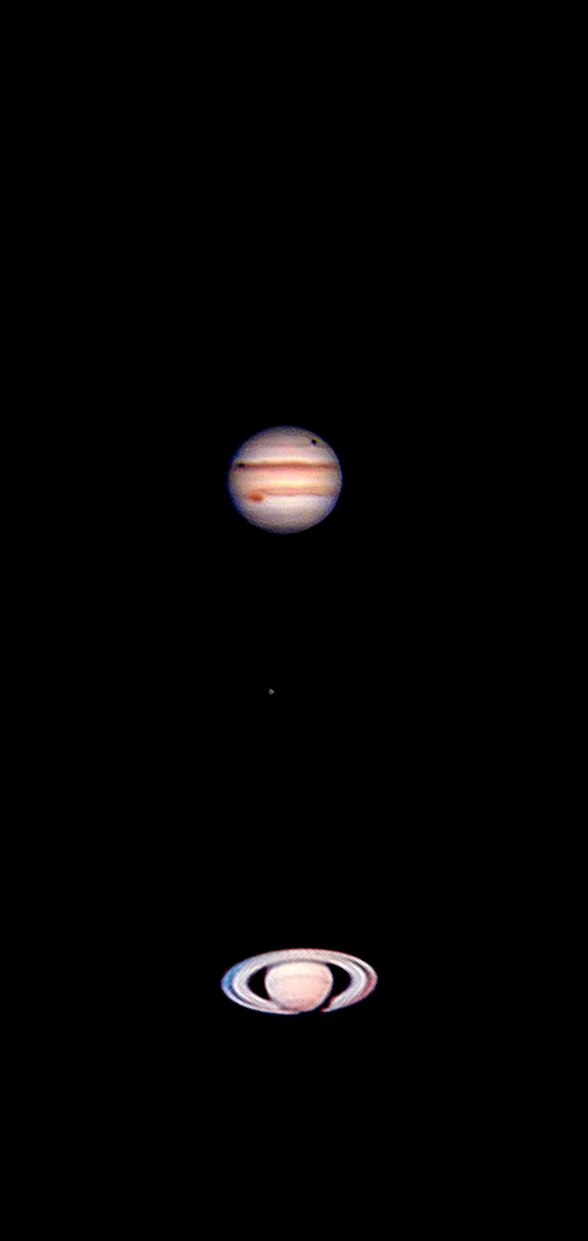 The Gas Giants on a windy Earth night