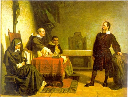 Galileo facing the Roman Inquisition, by Christiano Banti, 1857