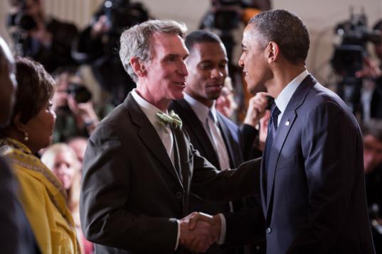 Bill Nye Greets President Obama