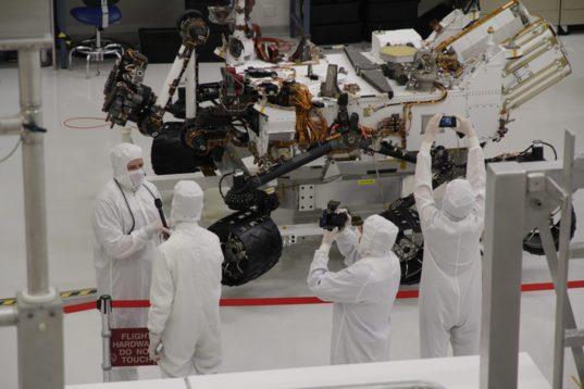 Planetary Society team with Curiosity