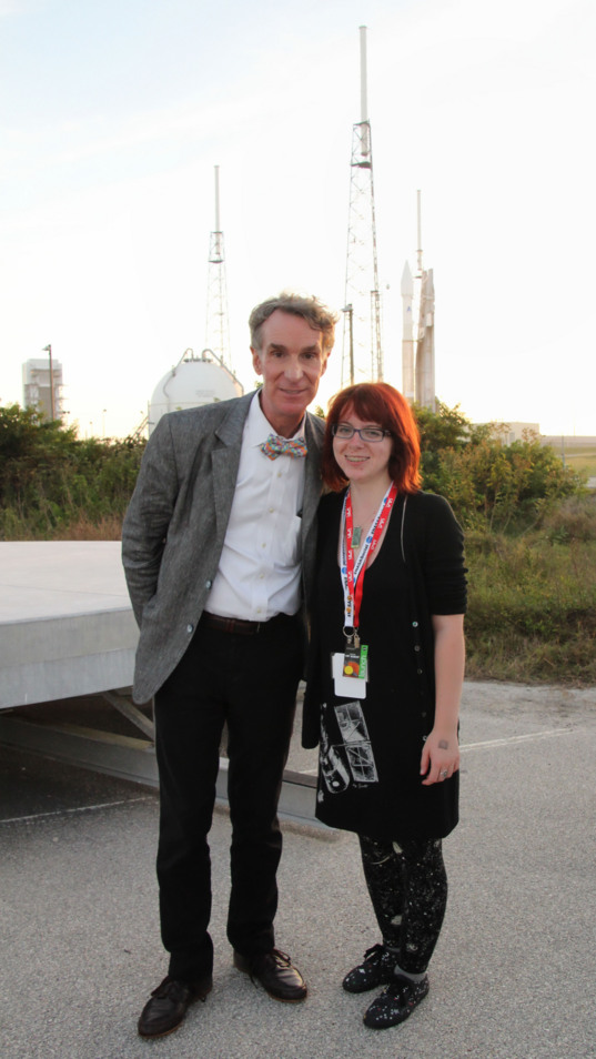 With Bill Nye at the MAVEN launch pad