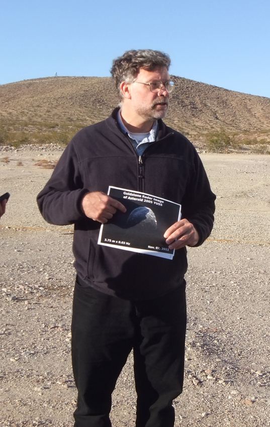 Lance Benner showing off their latest image of 2005 YU55
