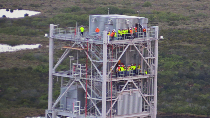 Watching from the Mobile Launcher