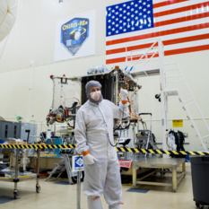 Bradley Williams with OSIRIS-Rex