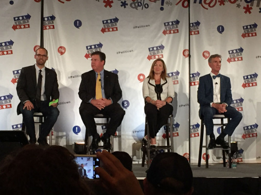 Politicon panel with Casey Dreier, Bill Adkins, Lori Garver and Bill Nye