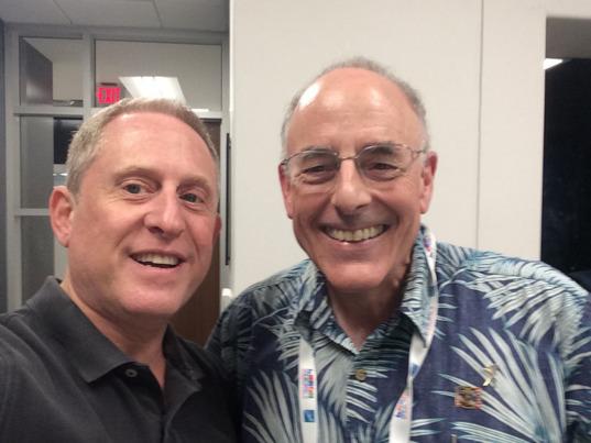 Alan Stern and host Mat Kaplan at The Planetary Society
