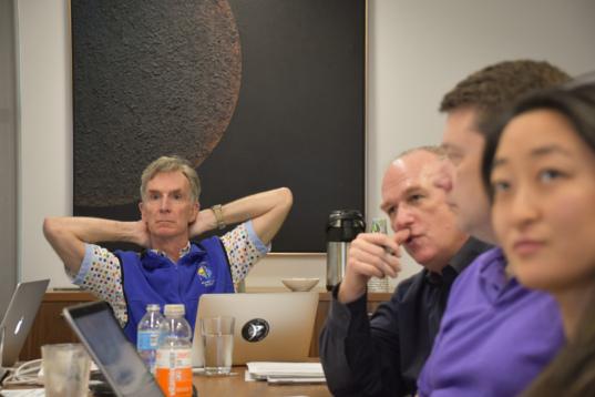 Bill Nye at LightSail 2 pre-ship review