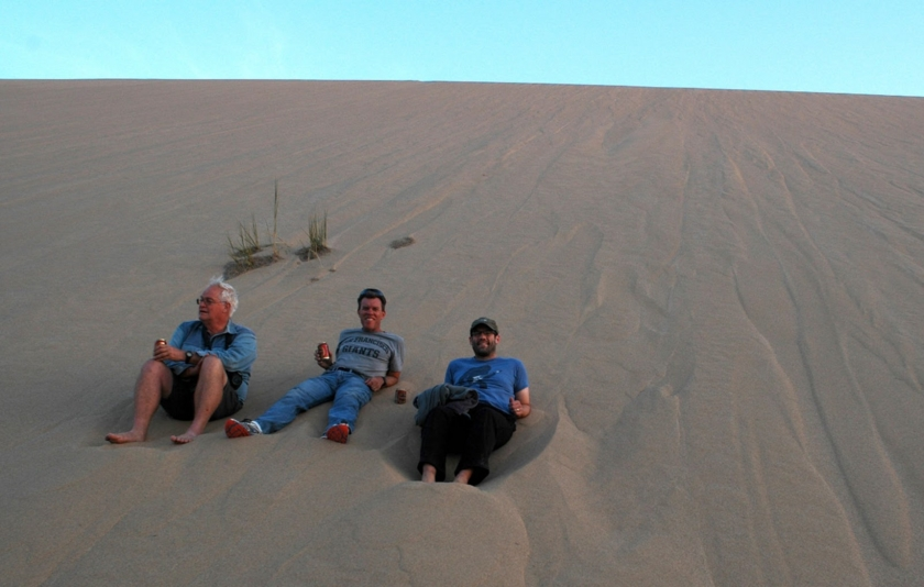 A relaxing evening in the Namib sand sea