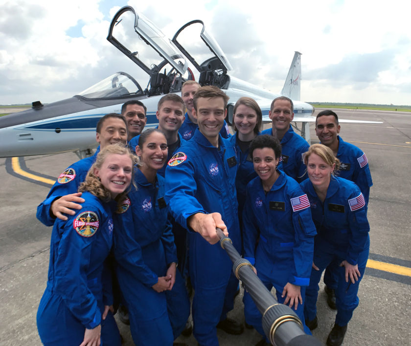 Astronaut candidates selfie