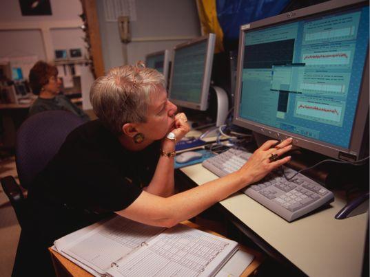 Jill Tarter at Arecibo Observatory