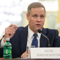 Jim Bridenstine at his nomination hearing