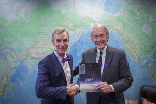 Sen. Ed Markey (D-MA) and Bill Nye