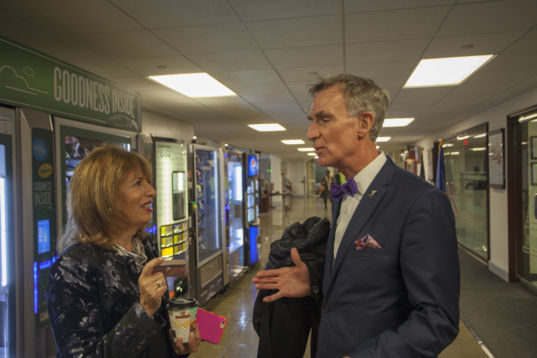 Rep. Jackie Speier (D-CA) and Bill Nye