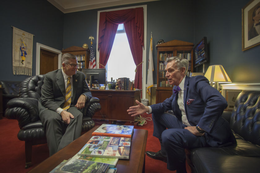 Rep. Randy Hultgren (R-IL) and Bill Nye