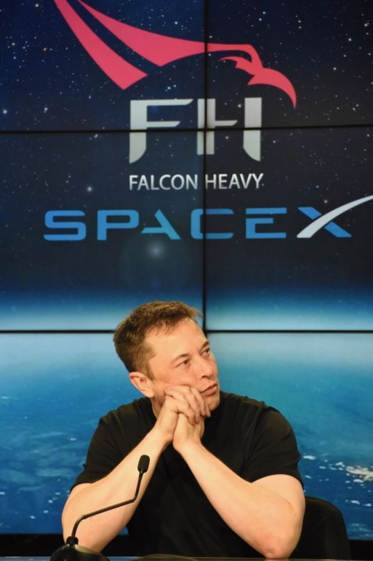 Elon Musk at Falcon Heavy press conference