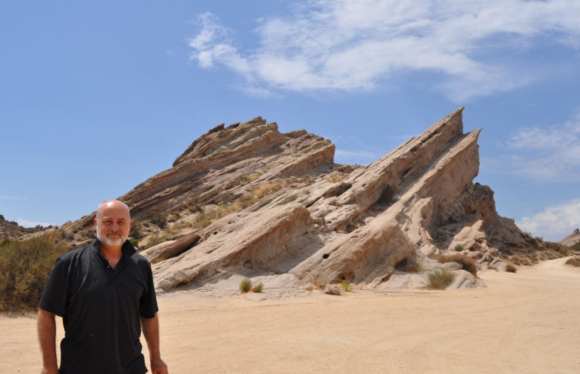 Author and futurist David Brin at Vasquez Rocks