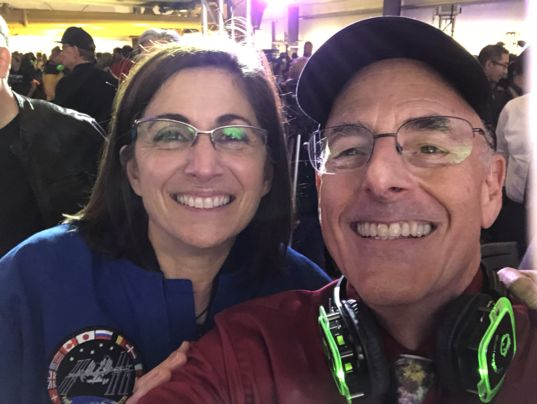 Astronaut Nicole Stott and Mat Kaplan at Yuri's Night LA 2018