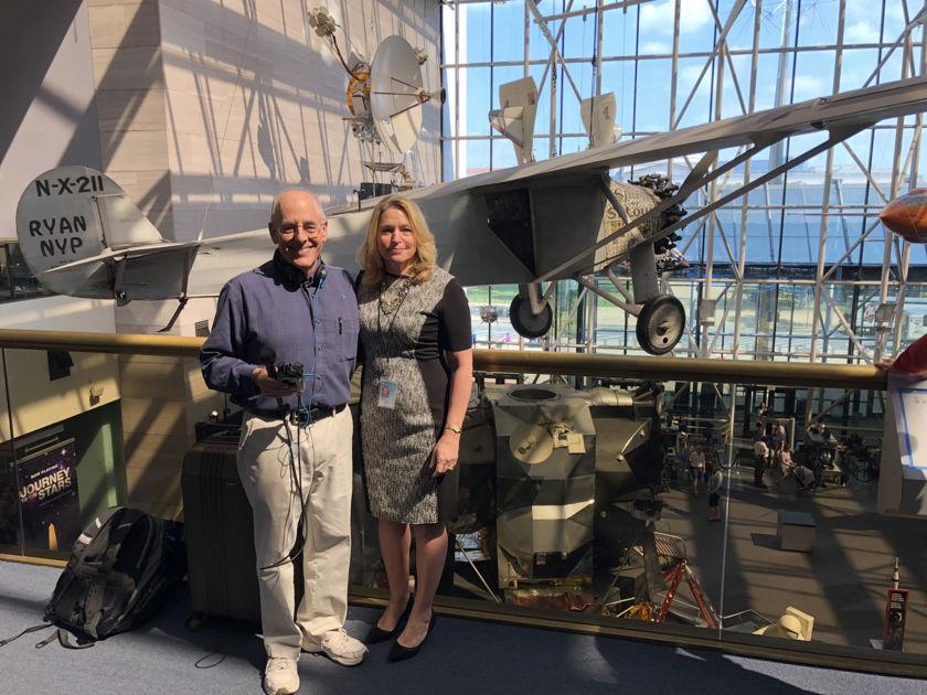 Ellen Stofan and Mat Kaplan at NASM