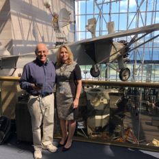 Ellen Stofan and Mat Kaplan at NASM