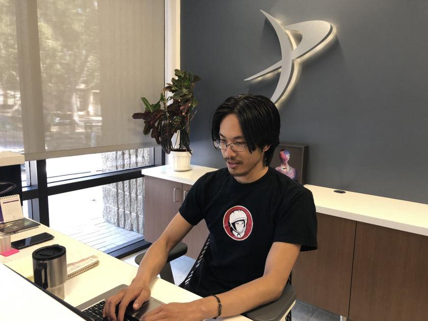 Planetary Society front desk volunteer Sean Marquez