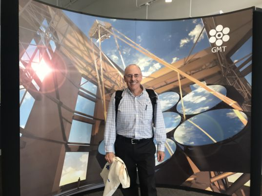 Mat Kaplan at the Giant Magellan Telescope office lobby