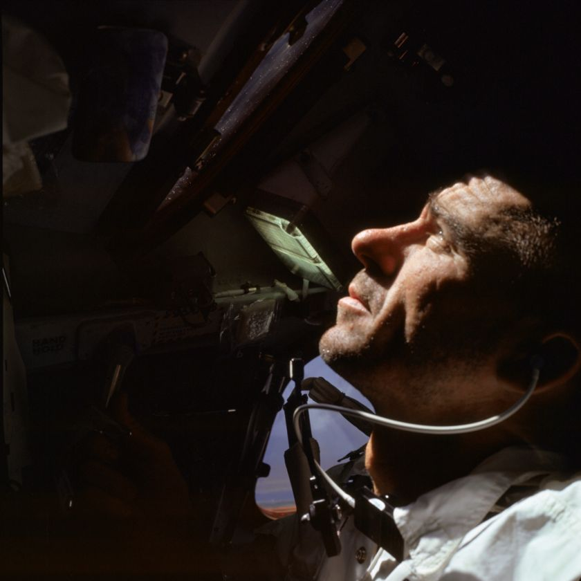 Walter Cunningham during Apollo 7