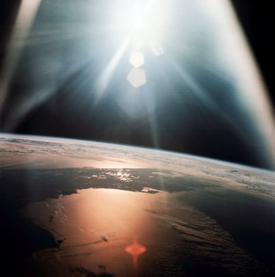 Florida morning as seen from Apollo 7