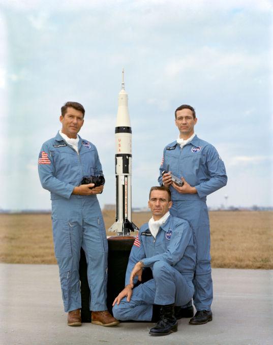 Apollo 7 crew portrait