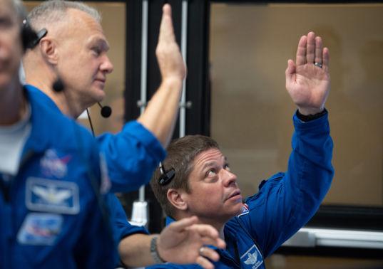 Future Crew Dragon crew watches test flight