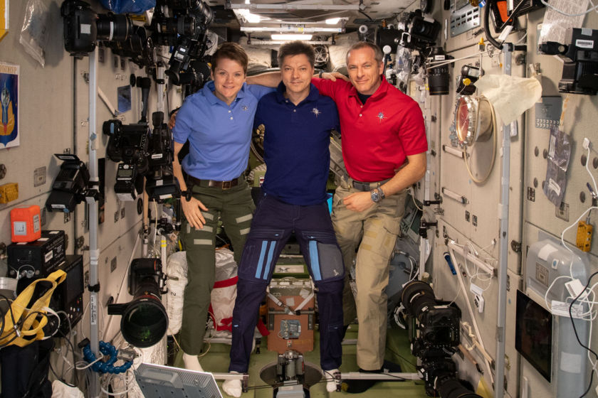 Expedition 58/59 crew in space
