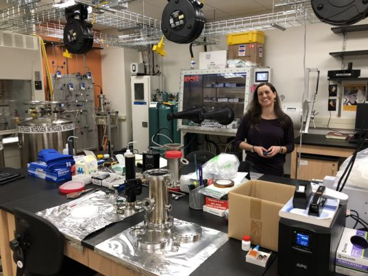 Planetary scientist Sarah Hörst in her Johns Hopkins University lab.