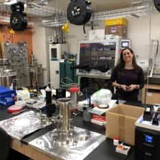 Planetary scientist Sarah Hörst in her Johns Hopkins University lab.