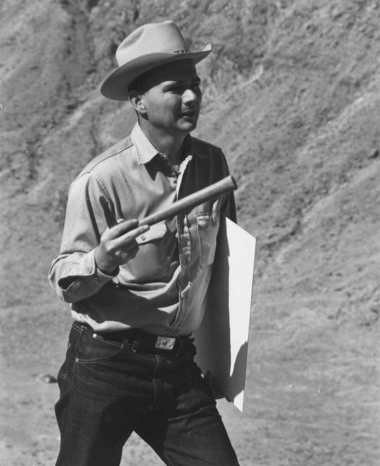 Gene Shoemaker at Meteor Crater