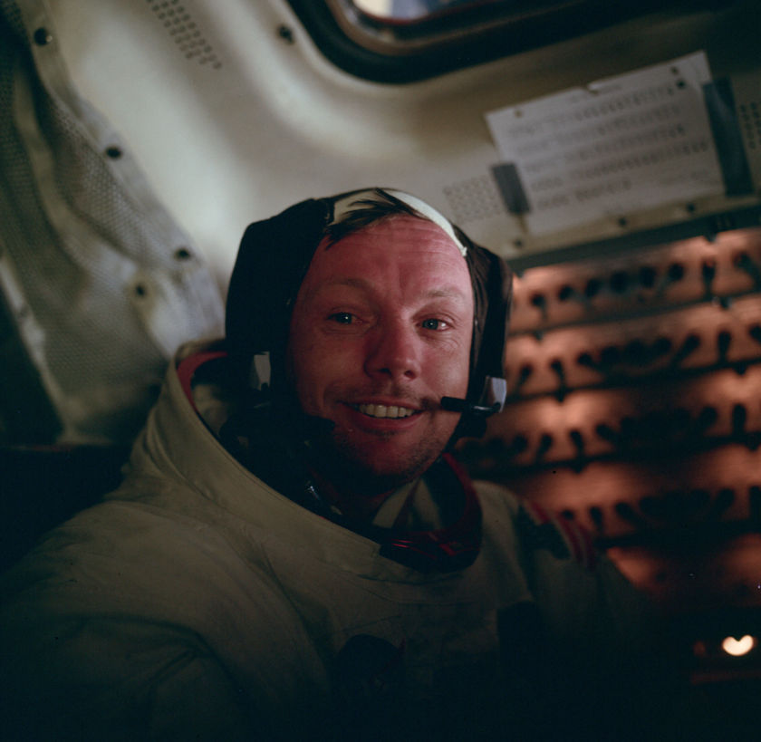 Neil Armstrong after moonwalk