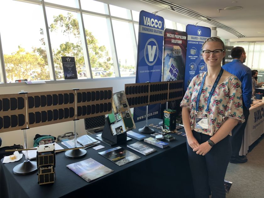Emily Mattle at the 2019 Cubesat Developers Workshop