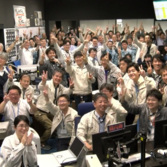 Scenes of triumph at mission control after confirmation of success.