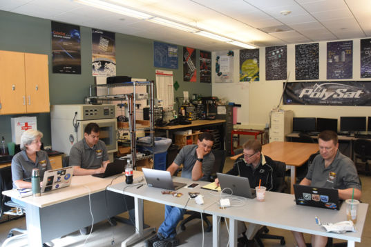 LightSail 2 team on console for sail deployment