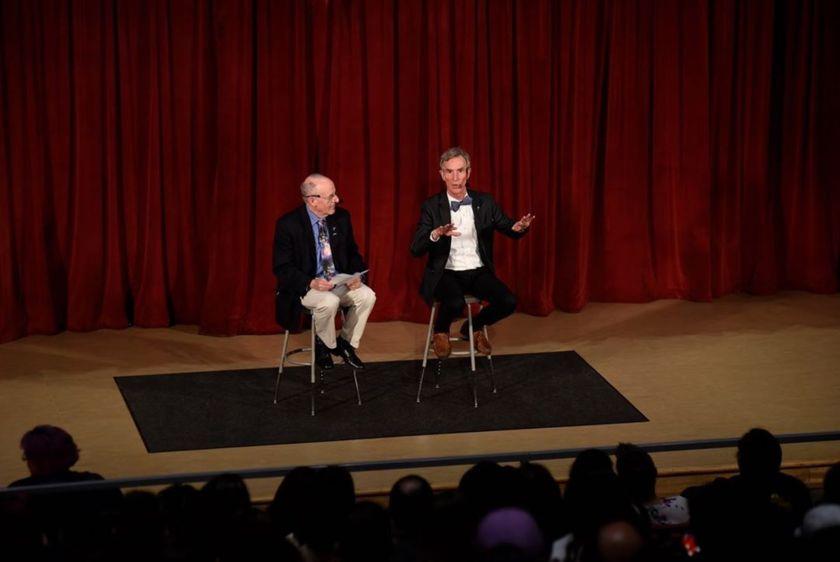 Bill Nye and Mat Kaplan at Science Museum Oklahoma